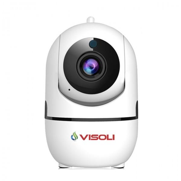 Baby Monitor Visoli™ VS-E7, Camera Supraveghere Wireless, Full HD, Vedere pe timp de noapte, Senzor miscare, Rotire automata
