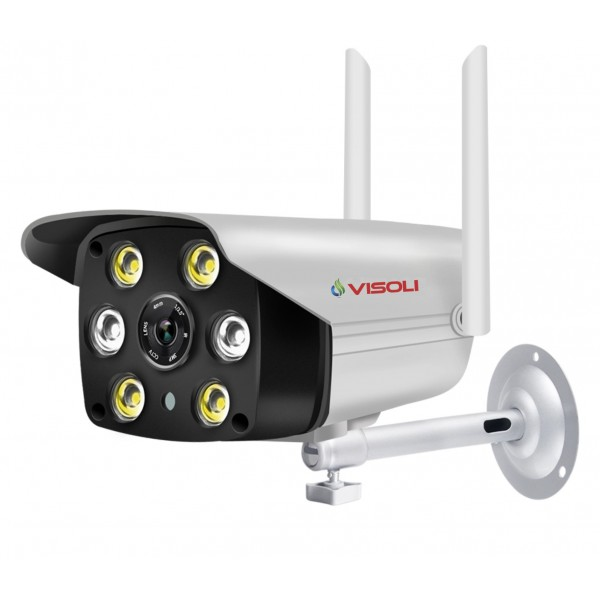 Camera de supraveghere IP wireless Visoli® VS C6, de exterior, night vision color, Full HD 1080p, camera 2.0 MP