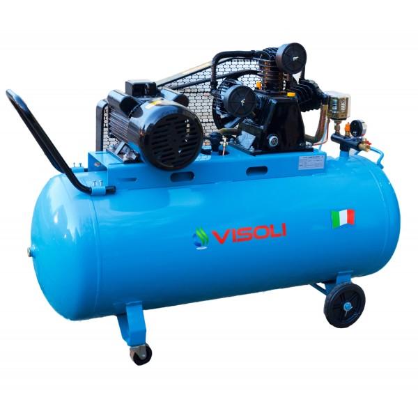 Compresor Aer 200L, Visoli VSL-200/10, 10bar, 360l/min, 220V/380V
