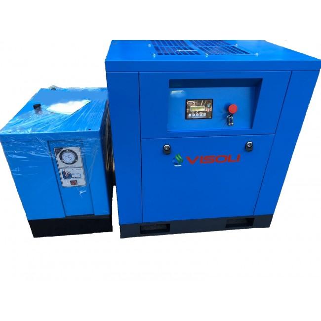 Compresor surub Visoli 7,5kw Visoli +Uscator-10bari