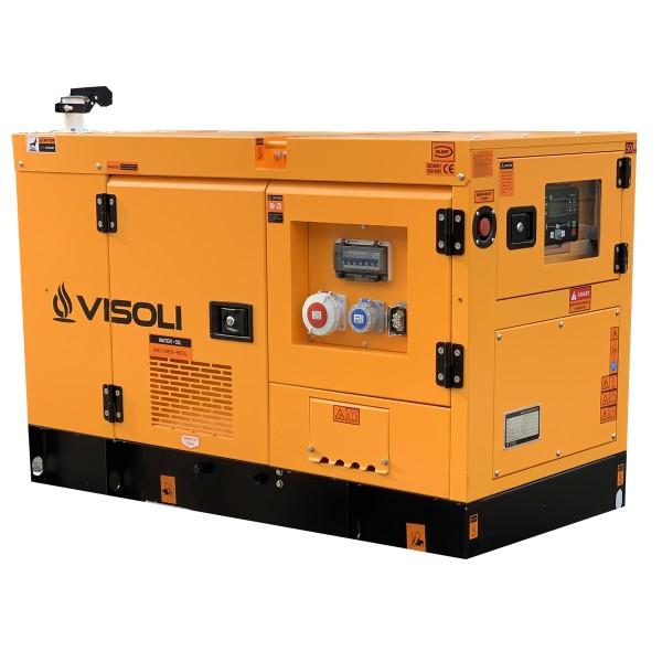 Grup Electrogen / Generator Electric Diesel Visoli™ 20 kVA cu carcasa si AAR / ATS