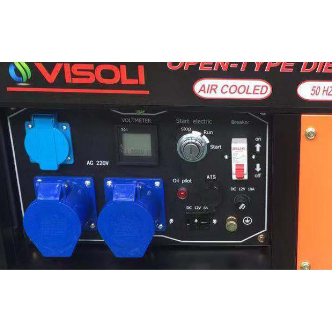 Generator Curent Electric Diesel Monofazic 10 KVA Visoli DG-10CLE