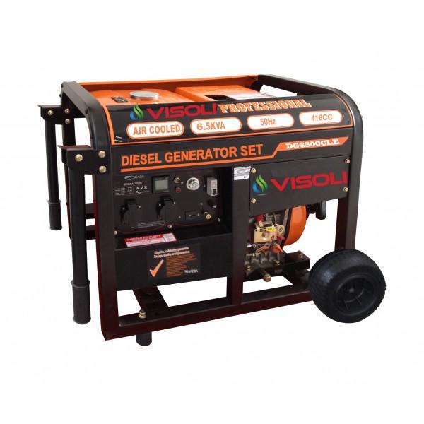 Generator Curent Electric Diesel Trifazic 8.1 KVA Visoli DG-8000LE-3