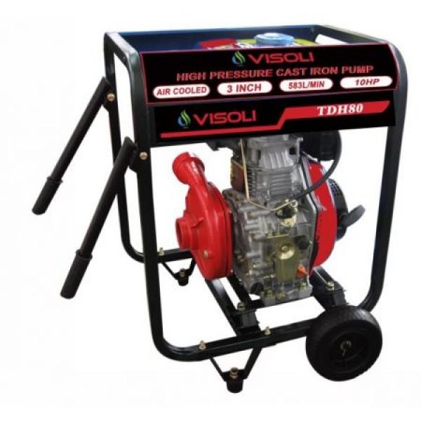 Motopompa Apa Diesel Visoli TDH100CLE 4 Toli - Pornire Electrica - 60M Verticala