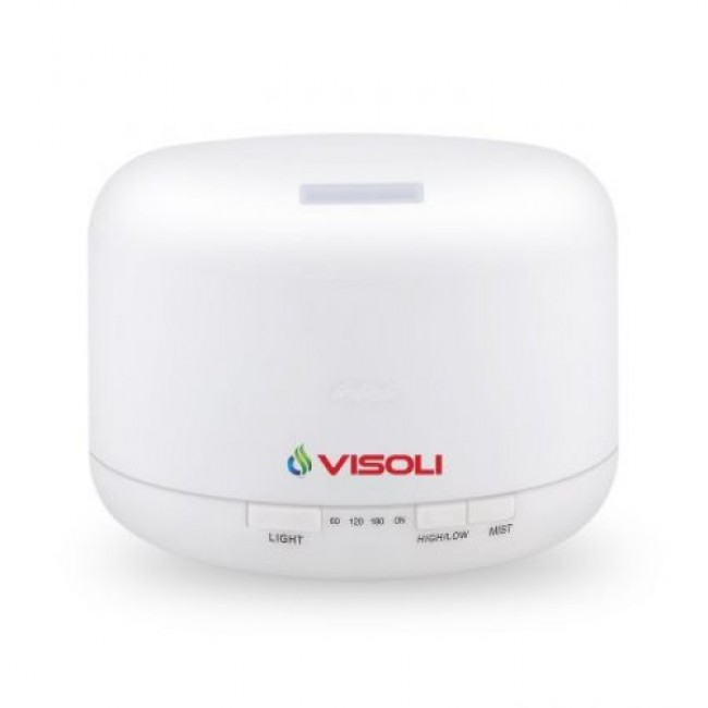 Umidificator De Camera Visoli VS-500 - Difuzor Aromaterapie Ultrasonic 500 ml cu LED - Purificator aer